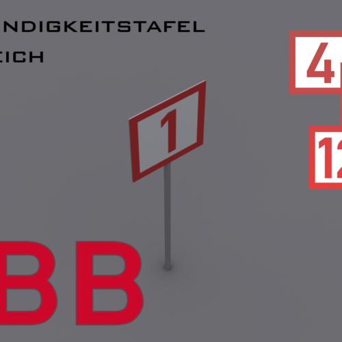 Austrian railway speed boards